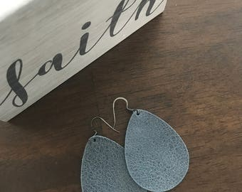 Morning Fog Leather Earrings