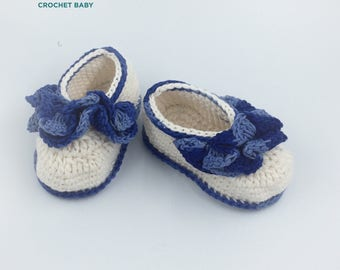 Crochet Baby Shoes, Handmade Baby Shoes for Summer