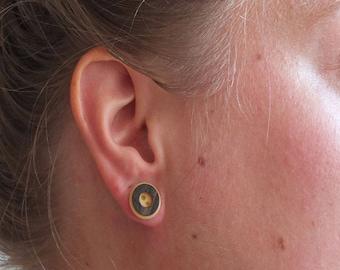 Button earrings wood | handmade stud earrings