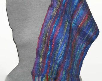 Wool Scarf Felted Scarf Merino Felt Scarf Nuno Felt Scarf Felt Silk Scarf Unique Scarf Silk Scarf Nuno Felt Silk Scarf Merino Silk Scarves
