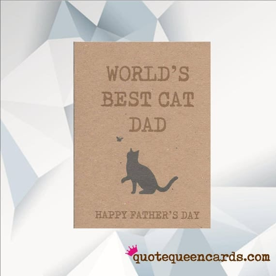 World's BEST CAT DAD Happy Father's Day card