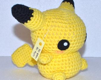 Pikachu Pokemon Cute Crochet Amigurumi Doll Toy Gift Idea Decoration