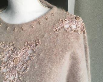 Angora cutout sweater