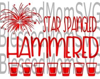 Star Spangled Hammered SVG