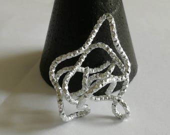 Silver Pendant of aluminium wire