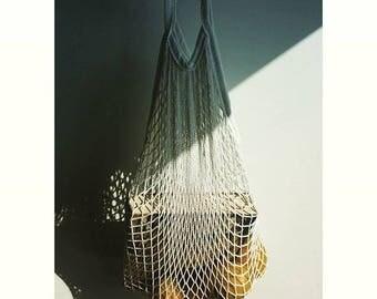 """100% Cotton Net bag """"Maria Sardinha""""-French Cotton Net Bag-Net Tote-Parisian cotton net bag-String bag-Eco bag-Grocery Bag-La Petite Sardine"""
