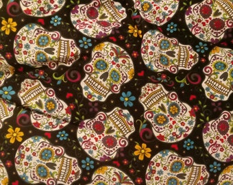 Day of the dead sugar skull pillow