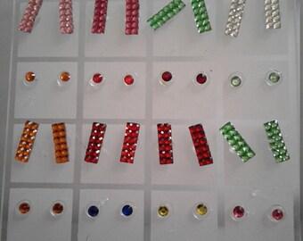 Earrings Plastic, jewelry (24 pairs) wholesale lot,  earrings lot, jewelry lot