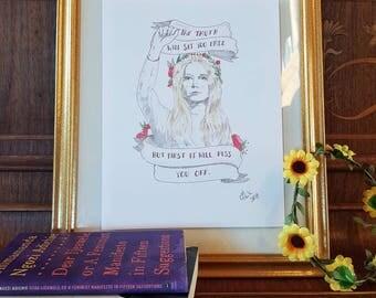 Gloria Steinem 8.5x11 print
