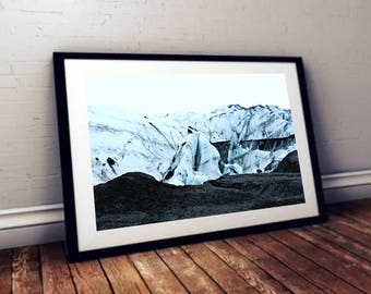 Glacier Landscape Print - High Quality Photo for Wall Art