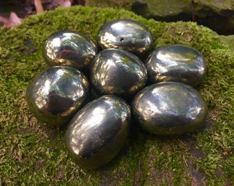 """Chalcopyrite ~ Large tumbled stones crystals ~ 1.25"""" - 1.5"""""""