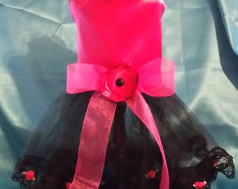 Beautiful Pink and Black Tutu 14-16 inch Girth Custom Made to Your Measurements