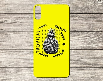 Fun Tropical Pineapple Print TPU Case For iPhone 5/5S 6/6S 7 8 & X (S6456)
