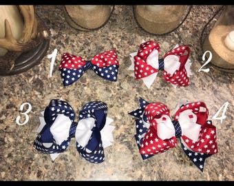 Fourth of July hair bows