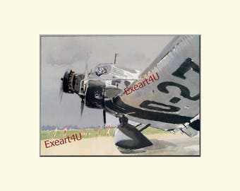Brenet Junkers JU 52 Planes Aeroplanes Classic Aircraft Aircraft Tri Motor Picture Prints x2