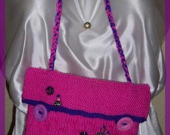 Shoulder bag mini purse pouch case purple pink colors