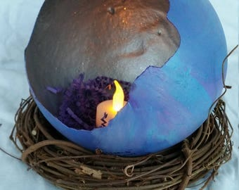 We Are The World Dragon Egg Candleholder