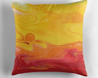 Original Art Print Throw Cushion. Pre Order, Custom Order. Sunrise.