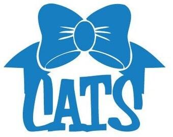 KY Car Decal - Kentucky Wildcats Decal - Cats Car Decal