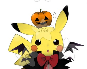 Pikachu  Happy Halloween iron On Transfer