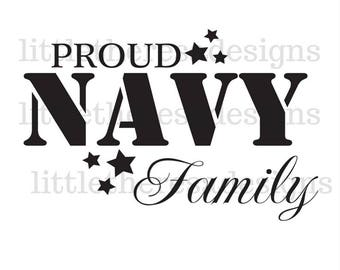 Proud Navy Family Transfer,Digital Transfer , Digital Iron Ons,DIY