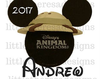 Disney Animal Kingdom Personalized Mickey Head Transfer,Digital Transfer,Digital Iron ON,DIY