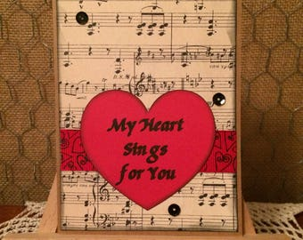 Valentine Card for Music Lovers