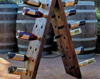Recycled timber wine rack - The Nebuchadnezzar