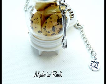 Cookies in its glass globe pendant necklace