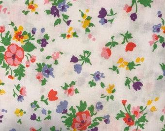Vintage Floral King Flat Sheet