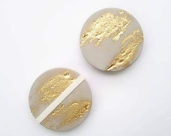 Gold Concrete Coasters