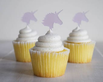 Unicorn Acrylic Cupcake Picks | Set of 6 | Kids Party | Events | Baby Shower | Decor | Laser Cut | Birthday | Fairy Tale | Gay Pride