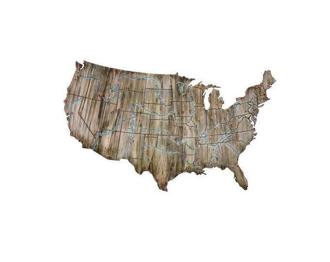 United States of America Travel Wall Map