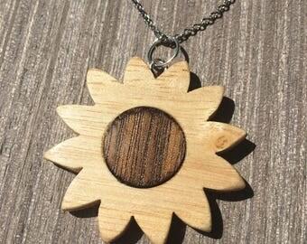Flower Shaped Pendant Necklace