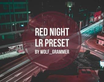"Lightroom Preset ""Red night preset"" by wolf_grammer"