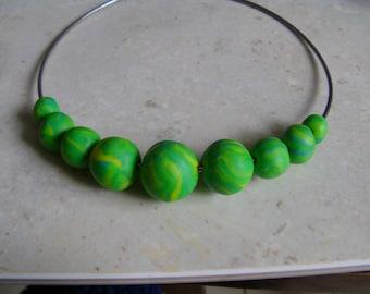 crew neck style murano Fimo beads