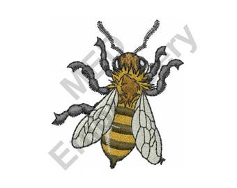 Bee - Machine Embroidery Design, Honey Bee