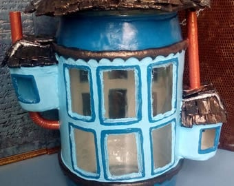 Victorian house - jar candle / Victorian decor - candle