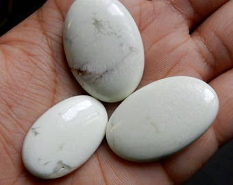 90.00 Carat Amazing Quality Natural Lemon Chrysoprase Oval Cabochon 3 piece AAA++ Quality Oval Shape Semi Precious Loose Gemstone LC5