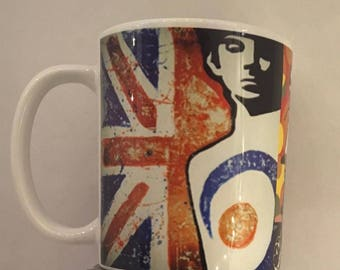 mod pop art scooter 60's style mug