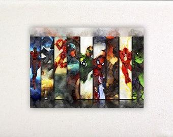 Superheroes - Superheroes prints, superheroes posters, nursery decor, nursery wall art, wall decor, wall prints | Tropparoba 100% made Italy