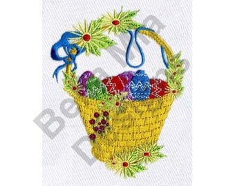 Easter Basket - Machine Embroidery Design