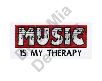 Therapy - Machine Embroidery Design, Music Therapy