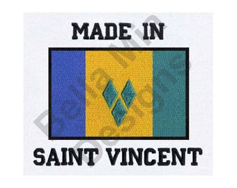 Saint Vincent And Grenadines Flag - Machine Embroidery Design, Made In Saint Vincent