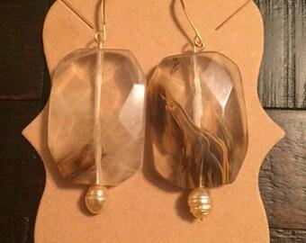 Tigerskin earrings