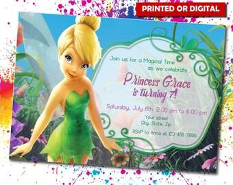 Tinkerbell, Tinkerbell Printed Invitation, Tinkerbell Birthday, Tinkerbell, Tinkerbell digital, Tinkerbell Theme, Minions invite, IB 012