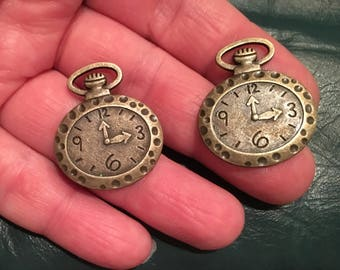 Two Funky Clock Pendant Charms