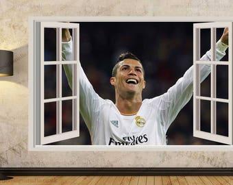 Ronaldo etsy for Cristiano ronaldo wall mural
