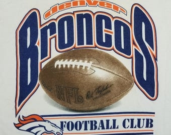 Vintage 90s Broncos Football T Shirt Size XL