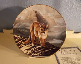 The Cougar World's Most Magnificent Cats 1991 Charles Fracé Bradford Plate COA